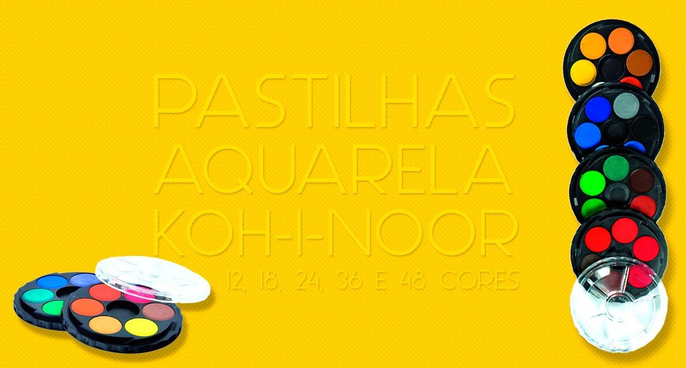 Aquarela Koh-I-Noor em Pastilhas